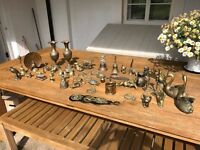 Various Brass Ornaments. A collection of all sorts. Some solid brass ones.
