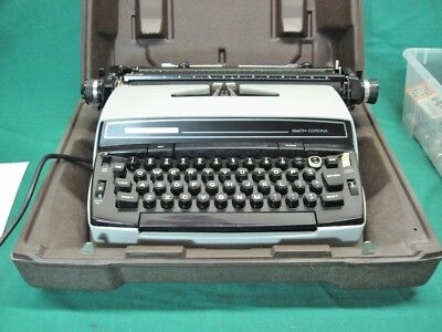 Vintage Smith Corona Super Correct Typewriter In Case Guaranteed Item