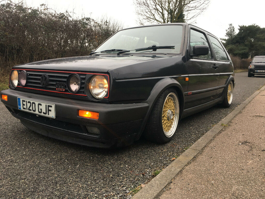volkswagen golf mk2 gti 16v mot coilovers grey in eye. Black Bedroom Furniture Sets. Home Design Ideas