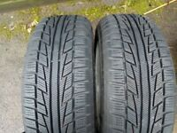 BMW 16-inch ALLOY WHEEL 7Jx16H2 w/ 4 Winter TIRES ( 2 tires Like NEW)