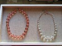 2 x Czech Glass Bead Necklaces