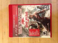 Dead island for PS3. Game of the year edition.