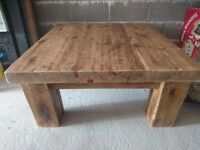 One off Solid sleeper coffee table