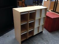 VERY USEFUL BEECH PIGEON HOLE UNIT, A4 STORAGE, PRESENTATION, BROCHURE DISPLAY 2