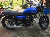 Blue wk 125cc motorbike