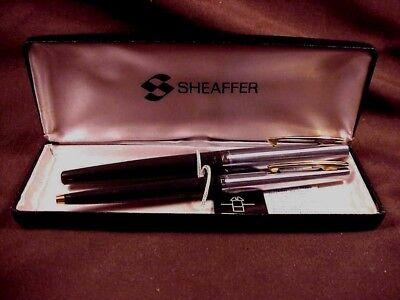 SHEAFFER  STYLIST PEN/BALLPEN  SET ORIG BOX. CHROME CAPS, GPT, CF, VERY CLEAN