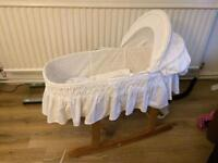 New mothercare Moses basket & rocking stand