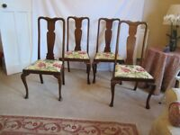 Stunning 1920s dining chairs in excellent condition x 6 chairs