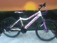 NEW BOSS PULSE White Ladies Disk Brake Mountain Bike - RRP £275