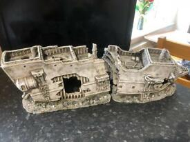 Fish tank aquarium model ship wreck