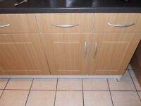 Howdens Kitchen Cupboard door fronts & matching drawer fronts with handles