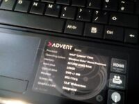 Advent Roma laptop- faulty main Battery.