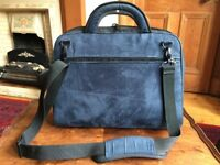 Good quality laptop bag in blue