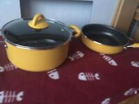 Large frying pan and casserole dish