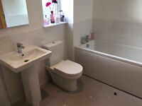 Carron Bathrooms White Bath and side panel, Good condition, Made in Scotland