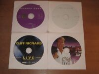 music dvd's x4 cliff richard & mariah carey