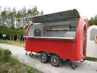 Mobile Catering Trailer Burger Van Pizza Trailer Hot Dog Ice Cream Cart 3800x2000x2400