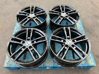 "BMW Genuine 719M 1 Series Alloys Gloss Black Refurbished Wheels 18"" 5x120"