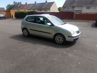 Diesel 1.4Tdi Volkswagen Polo 02 reg ,low miles ,low insurance group px welcome