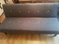 Grey clic clac sofa bed