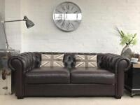 2-3 seater brown chesterfield sofa. Can deliver