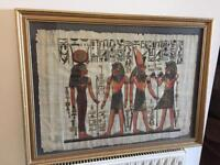 Papyrus painting framed