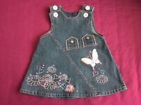 girls denim dress 6-12 mon