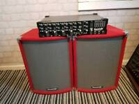 Soundlab speakers and mixer amp g743ab 150w