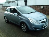 2008 58 VAUXHALL CORSA 1.4 3DR CLUB ** FULL GLASS ROOF ** ONLY 81000 MILES ** 12 MONTH MOT **
