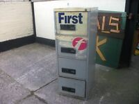 Metal filing cabinet all draws work no keys delivery available £10