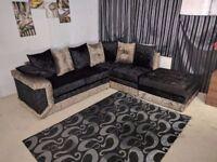 BRAND new crush velvet CORNER 3 And 2 seater sofa