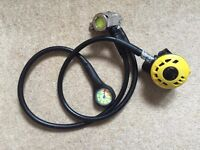Apex DIN fit ATX40 first and second stage reulator set with Beaver pressure gauge £60 o.n.o