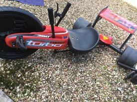 Kids red turbo twister, good condition, great for summer, my grandson has outgrown it, £100 when new