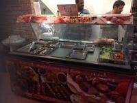 a meat display fridge for meat, fish,salad,food. in very good condition suitable for restaurant