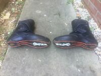 MOTORCYCLE OXTAR LEATHER BOOTS SIZE 8 GREAT CONDITION