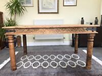 Moroccan style dining table in Indian hardwood
