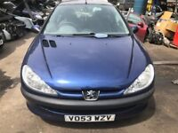2003 Peugeot 206 Look 3dr 1.4 Petrol Blue BREAKING FOR SPARES