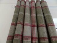 NEW IN PACKAGING 3 SETS AVAILABLE HIGHLAND CHECK EYELET CURTAIN 90 x 72 drop