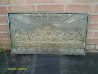 ORIGINAL COALBROOKDALE RELIGIOUS PLAQUE PORTRAYING THE LAST SUPPER
