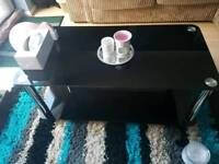Argos Home Matrix Black Glass Coffee Table and Matching Tv Stand!