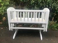 White Baby Cradle -John Lewis