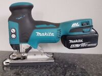 NO OFFERS..MAKITA DJV181 18V Cordless Li-Ion BRUSHLESS JIGSAW body & 4ah battery only,as new