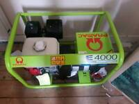 Pramac E4000 generator BRAND NEW