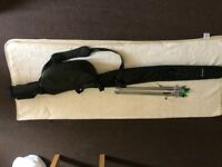 Rogue Carp Fishing FRP Rod Holdall for 2 Rods Storage Fishing Luggage + 4 rods pod