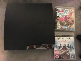 PS3 controller and 2 games