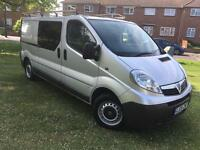 Vauxhall vivaro crew cab lwb 2009