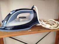Steam iron very good condition + large ironing board