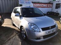 2007 SUZUKI SWIFT VVTS GLX 1.5 AUTOMATIC 5 DOOR 56K 2 KEYS BLUETOOTH USB AUX FINANCE £ 78 PER MONTH