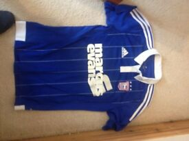 Authentic Ipswich Town 2013-2014 Mens small junior medium Home Football Shirt EXC COND BESSEY 10
