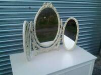 Three fold dressing table mirror
